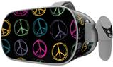 Decal style Skin Wrap compatible with Oculus Go Headset - Kearas Peace Signs Black (OCULUS NOT INCLUDED)