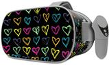 Decal style Skin Wrap compatible with Oculus Go Headset - Kearas Hearts Black (OCULUS NOT INCLUDED)