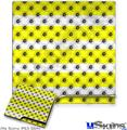 Sony PS3 Slim Skin - Kearas Daisies Stripe Yellow