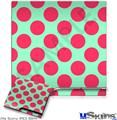 Sony PS3 Slim Skin - Kearas Polka Dots Pink And Blue