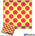 Sony PS3 Slim Skin - Kearas Polka Dots Pink And Yellow