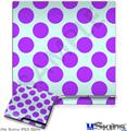 Sony PS3 Slim Skin - Kearas Polka Dots Purple And Blue