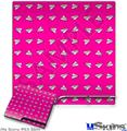 Sony PS3 Slim Decal Style Skin - Paper Planes Hot Pink