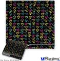 Sony PS3 Slim Skin - Kearas Hearts Black