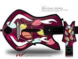 Plain Leaves On Burgundy Decal Style Skin - fits Warriors Of Rock Guitar Hero Guitar (GUITAR NOT INCLUDED)