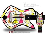 Triangles Warm Decal Style Skin - fits Warriors Of Rock Guitar Hero Guitar (GUITAR NOT INCLUDED)