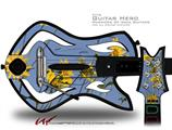 Yellow Daisys Decal Style Skin - fits Warriors Of Rock Guitar Hero Guitar (GUITAR NOT INCLUDED)