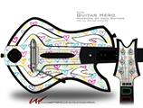 Kearas Hearts White Decal Style Skin - fits Warriors Of Rock Guitar Hero Guitar (GUITAR NOT INCLUDED)