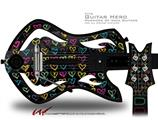 Kearas Hearts Black Decal Style Skin - fits Warriors Of Rock Guitar Hero Guitar (GUITAR NOT INCLUDED)