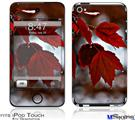 iPod Touch 4G Decal Style Vinyl Skin - Wet Leaves
