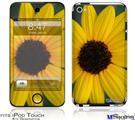 iPod Touch 4G Decal Style Vinyl Skin - Yellow Daisy