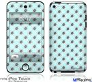 iPod Touch 4G Decal Style Vinyl Skin - Kearas Daisies Seafoam