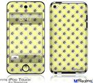 iPod Touch 4G Decal Style Vinyl Skin - Kearas Daisies Yellow