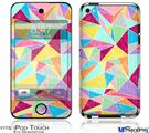 iPod Touch 4G Decal Style Vinyl Skin - Brushed Geometric