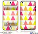 iPod Touch 4G Decal Style Vinyl Skin - Triangles Warm