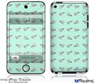 iPod Touch 4G Decal Style Vinyl Skin - Paper Planes Mint