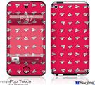 iPod Touch 4G Decal Style Vinyl Skin - Paper Planes Rasberry