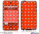 iPod Touch 4G Decal Style Vinyl Skin - Paper Planes Red