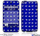 iPod Touch 4G Decal Style Vinyl Skin - Paper Planes Royal Blue
