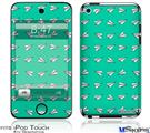 iPod Touch 4G Decal Style Vinyl Skin - Paper Planes Turquoise