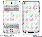 iPod Touch 4G Decal Style Vinyl Skin - Kearas Peace Signs