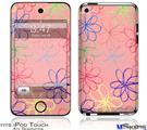 iPod Touch 4G Decal Style Vinyl Skin - Kearas Flowers on Pink