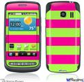 LG Vortex Skin - Psycho Stripes Neon Green and Hot Pink