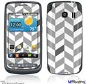 LG Vortex Skin - Chevrons Gray And Charcoal