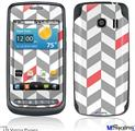 LG Vortex Skin - Chevrons Gray And Coral